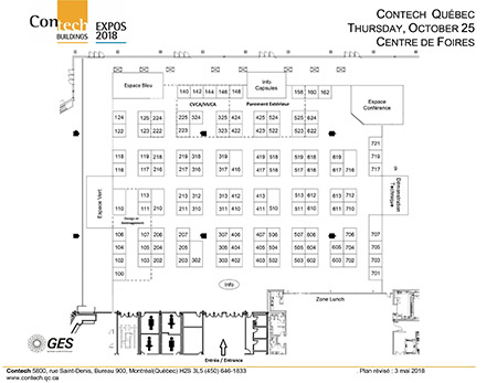 Floor plan quebec city 2018 qu bec contech for Trade show floor plan design